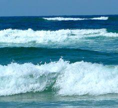 The Pacific Ocean's pounding waves on Australia's east coast - Stradbroke Island. My second home. Love❤