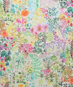 Flowers of Thorpe Cotton Linen Twill in Summer Bloom | Nesfield Collection by Liberty Art Fabrics – Interiors | Liberty.co.uk