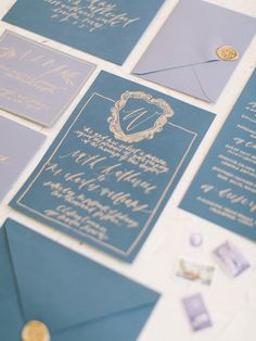 Blue stationery suite