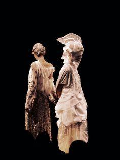 Melissa Tammerijn and Arizona Muse. Galliano S/S 2011 Show, Paris. Photo: Ulyana Sergeenko.