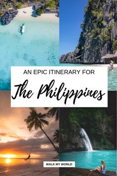 The perfect 2 week Philippines itinerary to find those picture perfect paradise islands beaches and waterfalls. Well give you an in-depth guide to the best places to visit hotels to stay and how to see it all without the horror of the crowds. Phillipines Travel, Philippines Travel Guide, Visit Philippines, Cool Places To Visit, Places To Travel, Travel Destinations, Backpacking Europe, Backpacking Thailand, Belfast