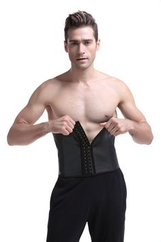 Coco Blue Men's Corset Tummy Control Steel Boned Waist Trainer Workout Sport Shapewear (3XL, Black). High Elastic Natural Latex,Anti-Bacterial,Fashionable,Breathable,Eco-friendly and Super Comfort. 4 Steel boned design ensure the quality of this men waist trainer. Adjustable 3 Rows of Hooks and eyes closure front will give more choice that you could choose to wear and be in a comfortable status. HIGH COMPRESSION:High quality spiral steel boned of waist cincher will give you a slim figure…