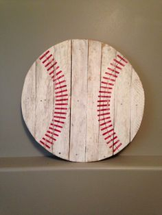 Baseball  27 inches across by KTKustomKreations on Etsy, $50.00