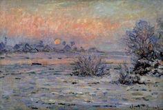 Claude Monet - Soleil d'hiver à Lavacourt