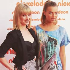 Cariba Heine and Indiana Evans(Two of my favorite australian actresses).
