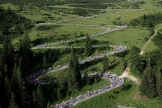 Passo Pordoi by Maratona dles Dolomites, via Flickr We have ridden this pass!