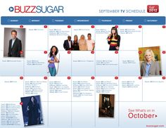 Download Your Own Fall TV Calendar!