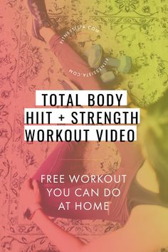 "Join 4 people right now at ""Total Body Strength and HIIT Workout Video - The Fitnessista"" Workout Routines For Women, At Home Workouts, Hiit Workout Videos, Cardio Workouts, Quick Workouts, Workout Diet, Body Workouts, Hiit Benefits, What Is Hiit"