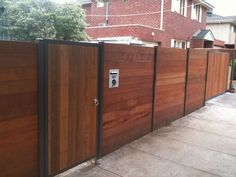 Image of: Modern Horizontal Fence Design