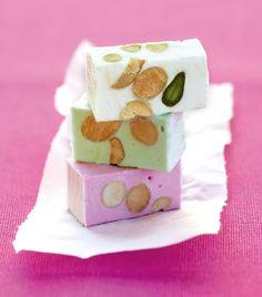 vanilla, pistachio & raspberry nougat Vital