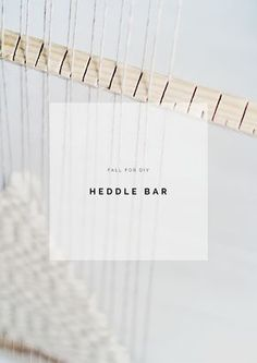 """Tutorial/DIY Heddle Bar to Speed up your Weave --to go with """"How to make a Giant Loom"""" tutorial I already pinned!! (by Fall For DIY)"""