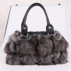 NEW 100% Real Genuine Soft Warm Plush FOX Fur Bag Shoulder Handbag #HL05 #Other #ShoulderBag