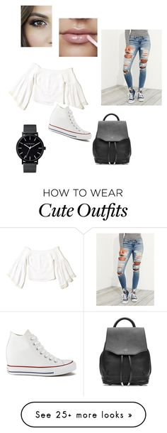 """cute date outfit #3"" by percabethforever156 on Polyvore featuring Hollister Co., Converse and rag & bone"