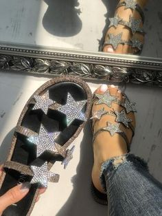 Women's Sexy Fashion Sandals Online Shopping at Chiquedoll Cute Sandals, Cute Shoes, Strap Sandals, Me Too Shoes, Shoes Sandals, Flat Sandals, Heeled Sandals, Mode Instagram, Heeled Boots