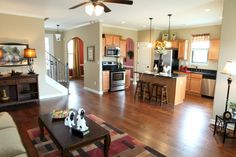Maplebrook in Olive Branch - love this open plan - and the hardwood floors