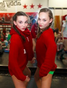 Maddie Ziegler and Kendall Vertes at the ALDC Christmas Party [2014]