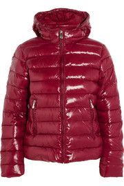 Spoutnic quilted glossed-shell down jacket