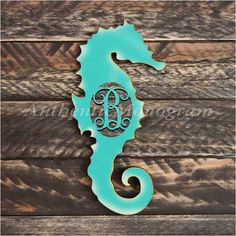 Personalized Wooden Letter, Seahorse Silhouette, Beach Decor, Ocean Wall Decor, Unpainted by MonogramCustomArt on Etsy Mermaid Wall Decor, Baby Wall Decor, Cross Wall Decor, Nautical Wall Decor, Wall Decor Design, Tree Wall Decor, Coastal Wall Art, Wall Decorations, Wooden Monogram