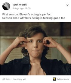 Stranger Things. Yea I'm really glad Noah got to showcase his skills more this season, also I mean literally EVERYONE on stranger things is a great actor/actress