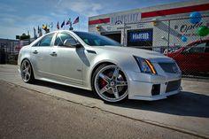 "2009 Cadilac CTS-V Asanti AF157 Lowered 22"" 5 star Custom Bmw, Cadillac Cts V, Vintage Television, Black Nail, Sports Sedan, Elvis Presley, Luxury Cars, Dream Cars, Nail Designs"