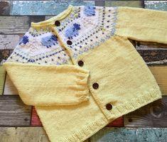 Pattern yellow sheep cardigan knitting pattern months, 1 to 2 years, 2 to 4 years dk Baby Boy Knitting Patterns, Baby Cardigan Knitting Pattern, Knitting For Kids, Wool Cardigan, Baby Patterns, Knit Patterns, Hand Knitting, Sweater Patterns, Diy Crafts Knitting