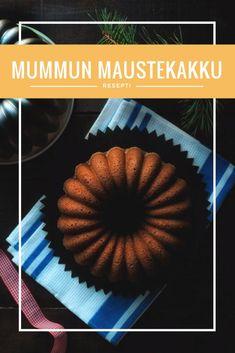 Mummun maustekakku - Sweet Food O´Mine Finnish Recipes, Sweet Recipes, Baking, Fruit, Food, Mascarpone, Bakken, Essen, Meals