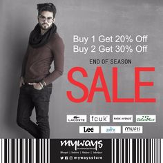 Myways End of Season #Sale is sheer delight for #Fashion lovers. Avail big #Benefits on top #Brands. Rush #Today and make the most of it.