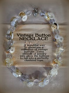 *Rook No. 17: recipes, crafts & whimsies for spreading joy*: Vintage Button and Cut Crystal Necklace Tutorial