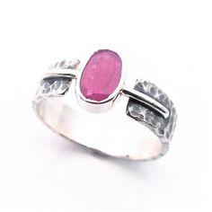 LOOKRECYA - ruby trap... srebrny pierścionek z rubinem