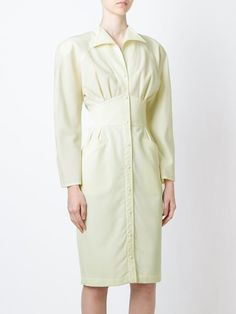 Thierry Mugler Vintage fitted shirt dress