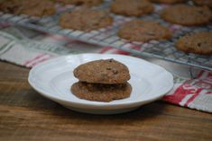 Gluten-Free Chocolate Chip Zucchini Cookies - Powered by Chocolate Biscuits, Chocolate Cookies, Chocolate Recipes, Salted Butter, Peanut Butter, Zucchini Cookies, Fall Cookies, Shortbread, Quick Easy Meals