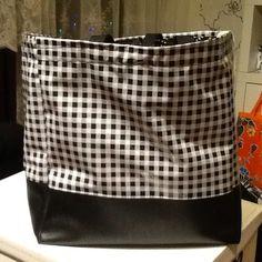 Wachstuchtasche  oilcloth bag