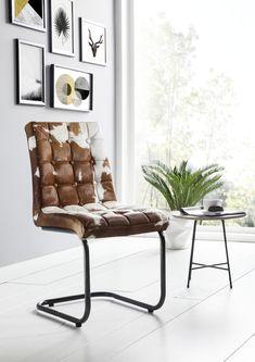Sie suchen noch einen tollen Stuhl für Ihr Esszimmer? Dieser hier ist aus Metall und 100 Prozent echtem Leder. Überzeugen Sie sich selbst von dem originellen Design! #möbel #möbelstücke #metall #leder #leather #homeinterior #interiordesign #homedecor #decor #einrichtung #furniture #esszimmer #diningroom #ideas #massivmoebel24 #freischwinger #design #designerstuhl #stuhl #stuehle #chair #küche #kitchen #buero #office Dining Room Inspiration, Barcelona Chair, Home Interior, House Rooms, Chair Design, Sweet Home, Furniture, Home Decor, Room Ideas