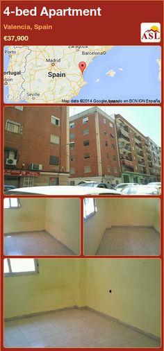 4-bed Apartment in Valencia, Spain ►€37,900 #PropertyForSaleInSpain