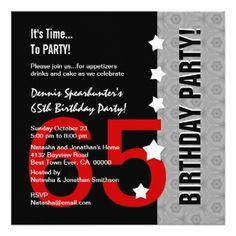 69 Best 65th Birthday Invites Images