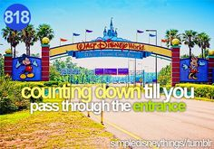 counting down till you pass through the entrance