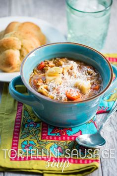 Hearty and satisfying, this tortellini sausage soup from Our Best Bites is one of our all-time favorite recipes!