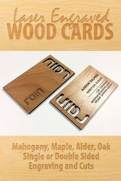 Our Wood business cards are thick and made of real wood, not veneer. Stand out with a professional wood business card. Laser Cutter Ideas, Laser Cutter Projects, Cnc Projects, Trotec Laser, Laser Cut Wood, Laser Cutting, Wood Business Cards, Business Card Design, Cnc Wood