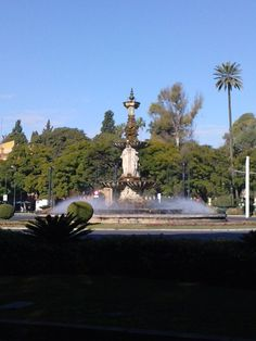 A fountain in Seville, Spain.