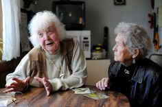 Val Jones, 95, (left) and Doris Simms, 89, worked as riveters on B-24's during World War II. - http://www.warhistoryonline.com/war-articles/val-jones-95-left-and-doris-simms-89-worked-as-riveters-on-b-24s-during-world-war-ii.html