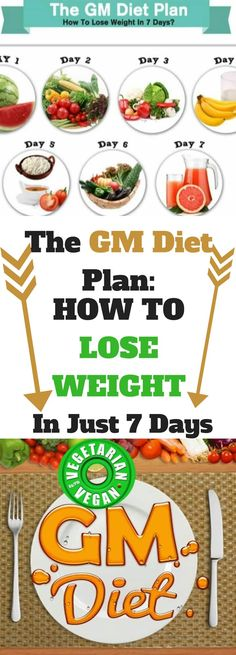 The GM Diet Plan: How To Lose Weight In Just 7 Days!