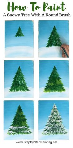 christmas paintings How To Paint A Christmas Tree - Step By Step Painting Simple Acrylic Paintings, Acrylic Painting Techniques, Decorative Paintings, Acrylic Art, Christmas Tree Painting, Christmas Art, Simple Christmas, Painted Christmas Tree, Outdoor Christmas