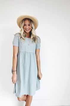 Light Blue Linen Dress | ROOLEE