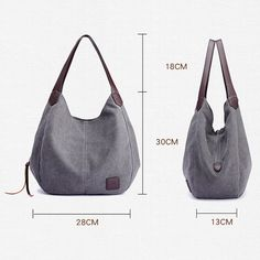 WEYKING Brand 2019 Women's Canvas Handbags High Quality Female Hobos Single Shoulder Bags Vintage Solid Multi-pocket Ladies Totes Bolsas - Active Noise Cancelling Headphones Bluetooth Headphones with Mic Deep Bass Wireless Headphones Over Ear, Comfortable Mothers Bag, Canvas Handbags, Hobo Handbags, Prada Handbags, Shoulder Handbags, Shoulder Bags, Cotton Bag, Casual Bags, Handbags Online