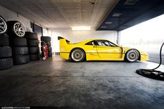 Yellow F40 !!! by Tex Mex (alexandre-besancon.com), via Flickr