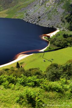 Guinness Lake shoreline - Lough Tay, Wicklow.