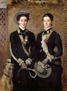 The Twins, Portrait of Kate Edith and Grace Maud Hoare, by John Everett Millais, 1876