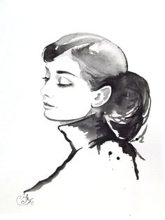 Original Watercolor Fashion Illustration -