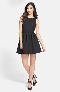 For one of th3 girls Trixxi Textured Open Back Skater Dress (Juniors) (Online Only) available at #Nordstrom