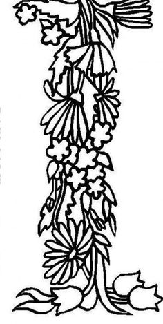flower alphabet coloring pages - photo#36